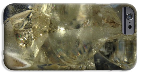 Modern Abstract Glass Art iPhone Cases - Depths Within iPhone Case by Gaby Tench