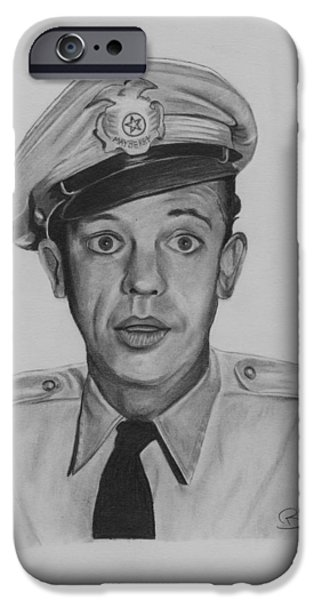 Don Knotts iPhone Cases - Deputy Barney Fife iPhone Case by Billy Burdette