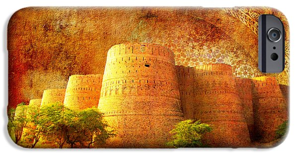 Pakistan iPhone Cases - Derawar Fort iPhone Case by Catf