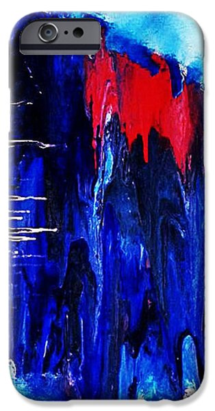 Mental Paintings iPhone Cases - Dereistic iPhone Case by Michael Ferguson