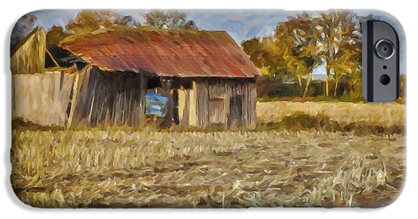 Autumn In The Country iPhone Cases - Derelict Barn iPhone Case by Jutta Maria Pusl