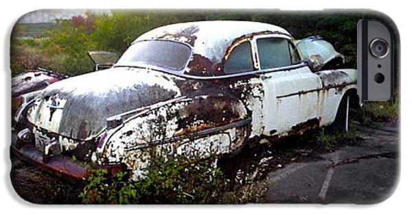 Rust iPhone Cases - Derelict car iPhone Case by Mitch Cornacchia