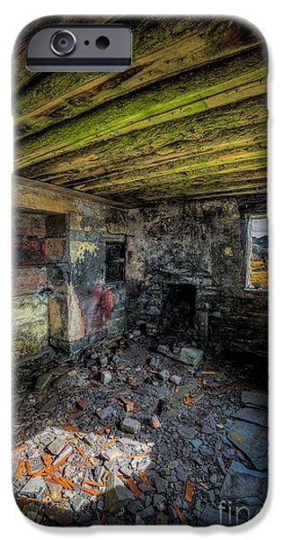 Ruins iPhone Cases - Derelict Cottage iPhone Case by Adrian Evans