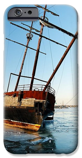 Derelict Faux Tall Ship iPhone Case by Trever Miller