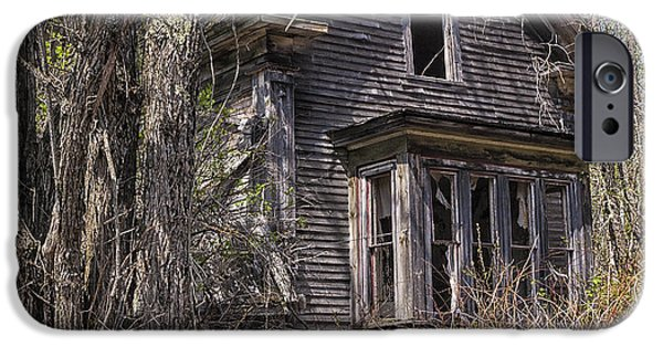 Haunted House iPhone Cases - Derelict House iPhone Case by Marty Saccone