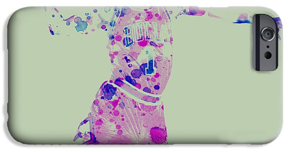 Derrick Rose iPhone Cases - Derick Rose iPhone Case by Brian Reaves