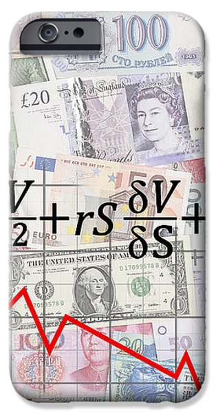 DERIVATIVES FINANCIAL DEBACLE - BLACK SCHOLES EQUATION iPhone Case by Daniel Hagerman