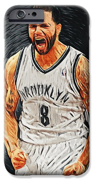 Utah Jazz iPhone Cases - Deron Williams iPhone Case by Taylan Soyturk