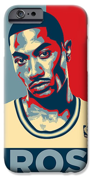 All Star Game iPhone Cases - Derrick Rose iPhone Case by Taylan Soyturk