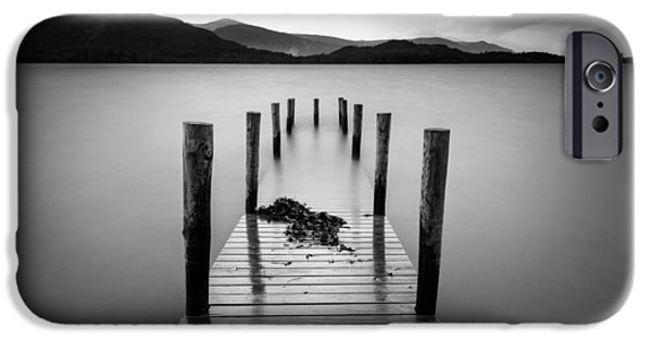 Dave iPhone Cases - Derwent Water Jetty iPhone Case by Dave Bowman