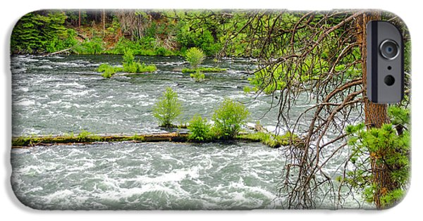 Deschutes River iPhone Cases - Deschutes River in Central Oregon iPhone Case by Jess Kraft