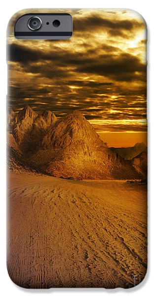 East Pyrography iPhone Cases - Deseret Landscape iPhone Case by Jelena Jovanovic