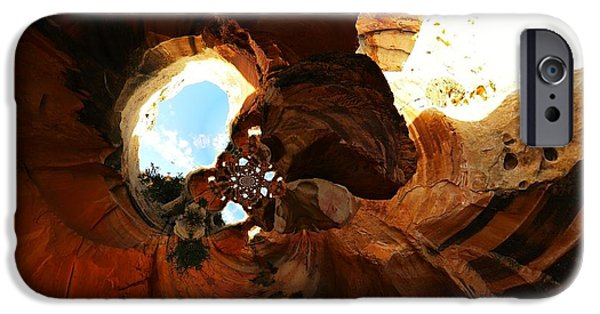 Abstract Digital Photographs iPhone Cases - Desert Abstract iPhone Case by Jeff  Swan