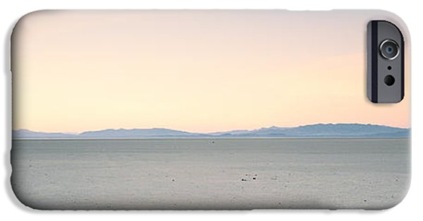 Dry Lake Photographs iPhone Cases - Desert At Sunrise, Black Rock Desert iPhone Case by Panoramic Images