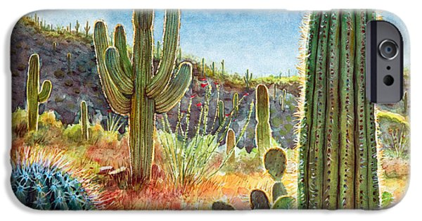 Adventure iPhone Cases - Desert Beauty iPhone Case by Frank Robert Dixon