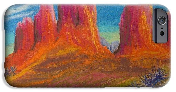 Sedona Pastels iPhone Cases - Desert Bloom iPhone Case by Brenda Salamone