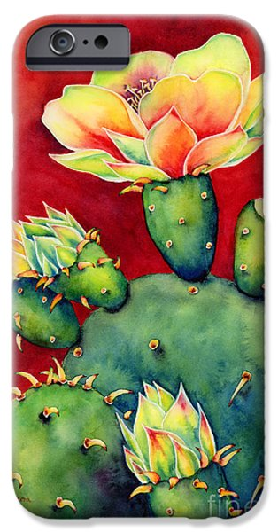Floral Art iPhone Cases - Desert Bloom iPhone Case by Hailey E Herrera
