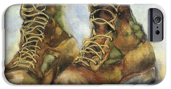 Iraq Prints iPhone Cases - Desert Boots iPhone Case by Leisa Shannon Corbett