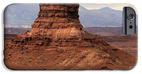 Canyon Country iPhone Cases - Desert Butte - Utah iPhone Case by Aidan Moran
