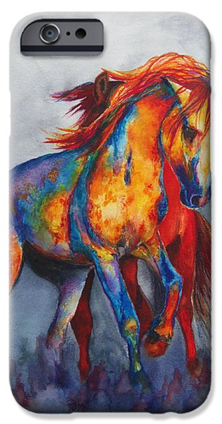 Chatham Paintings iPhone Cases - Desert Dance iPhone Case by Karen Kennedy Chatham