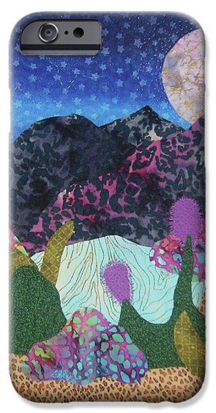 Abstracted Tapestries - Textiles iPhone Cases - Desert Dreaming iPhone Case by Ellen Levinson