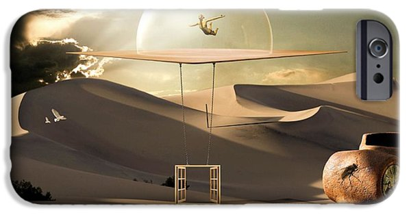 Window Cover iPhone Cases - Desert flight iPhone Case by Franziskus Pfleghart