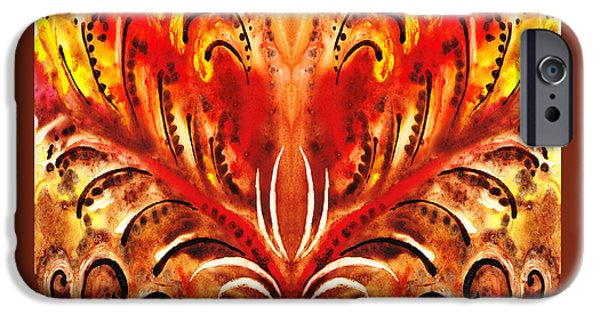 Abstractions iPhone Cases - Desert Flower Abstract  iPhone Case by Irina Sztukowski