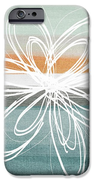 Desert Flower- Contemporary abstract flower painting iPhone Case by Linda Woods