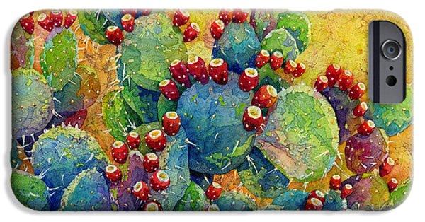 Cacti iPhone Cases - Desert Gems iPhone Case by Hailey E Herrera