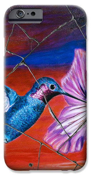 Desert Hummingbird - Study No. 1 iPhone Case by Steve Bogdanoff