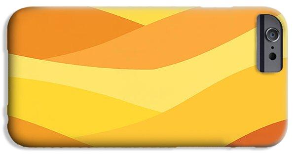 Desert Digital Art iPhone Cases - Desert journey iPhone Case by Budi Satria Kwan