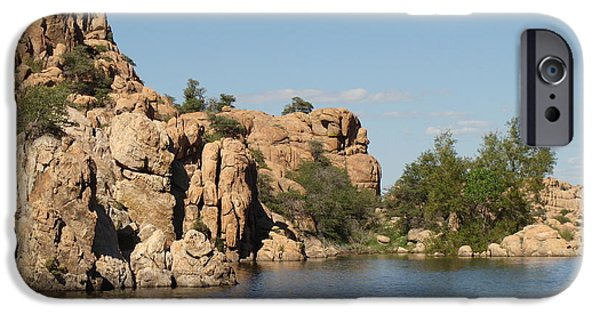 Watson Lake iPhone Cases - Desert Lake 01 iPhone Case by Ric Daly