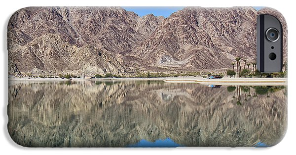 Peacefull iPhone Cases - Desert Lake Stillness iPhone Case by Dominic Piperata