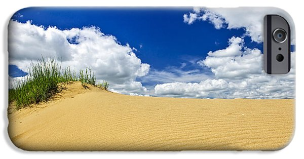 Sand iPhone Cases - Desert landscape in Manitoba iPhone Case by Elena Elisseeva