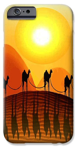 Modern Abstract iPhone Cases - Desert Mirage iPhone Case by Bruce Iorio