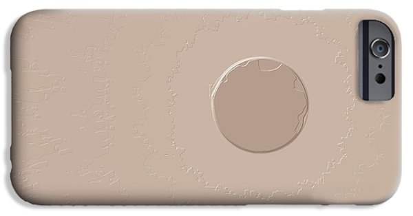 Moonscape iPhone Cases - Desert Moon iPhone Case by Hugh Thompson