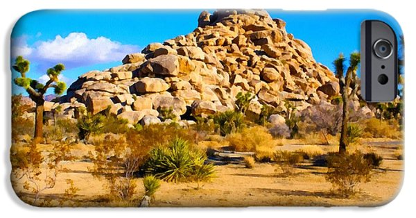 Mounds Digital iPhone Cases - Desert Mound Watercolor iPhone Case by Barbara Snyder