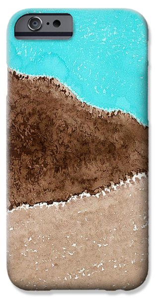 Printmaking iPhone Cases - Desert Mountains original painting iPhone Case by Sol Luckman