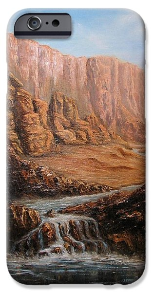 Grand Canyon iPhone Cases - Desert Oasis iPhone Case by Affordable Art Halsey