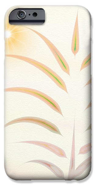 Gina Manley iPhone Cases - Desert Palm - Digital Abstract iPhone Case by Gina Lee Manley