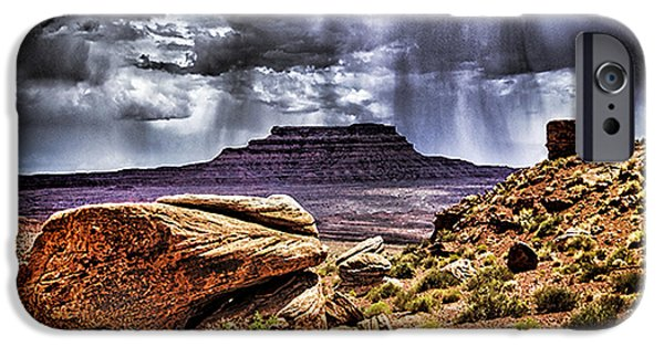 Duo Tone iPhone Cases - Desert Rain iPhone Case by David Neely