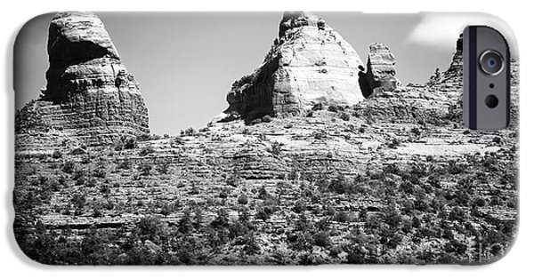 Red Rock iPhone Cases - Desert Shapes in Sedona iPhone Case by John Rizzuto
