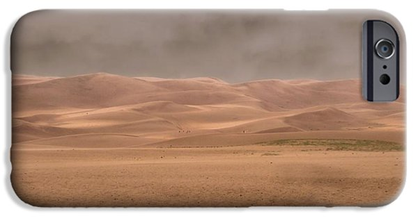 Sweating iPhone Cases - Great Sand Dunes Approaching Storm iPhone Case by Dan Sproul