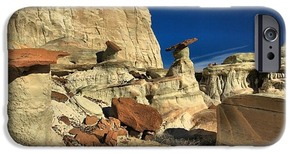 Surreal Landscape iPhone Cases - Desert Towers iPhone Case by Adam Jewell