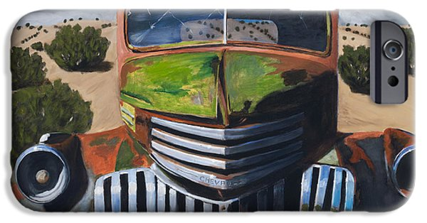 Old Truck iPhone Cases - Desert Varnish iPhone Case by Jack Atkins