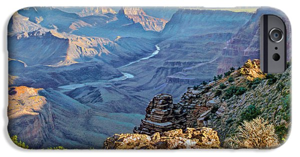 Grand Canyon iPhone Cases - Desert View-Morning iPhone Case by Paul Krapf