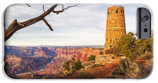 Prescott iPhone Cases - Desert View Watchtower iPhone Case by Alex Mironyuk