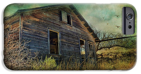 Haunted House iPhone Cases - Deserted iPhone Case by Barbara Manis