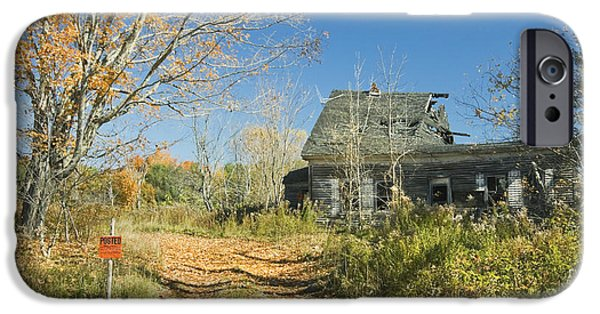 Abandoned House iPhone Cases - Deserted Old House iPhone Case by Keith Webber Jr