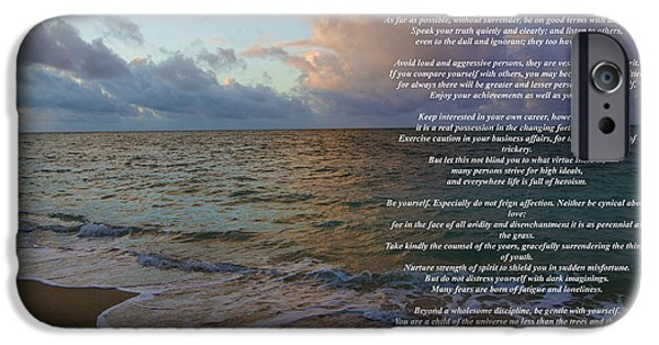 Recently Sold -  - Christmas Greeting iPhone Cases - Desiderata iPhone Case by Jon Burch Photography